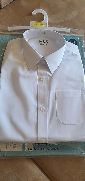 Рубашка M&S  на мальчика длинный рукав, размер 7-8 лет, рост 122-128 см