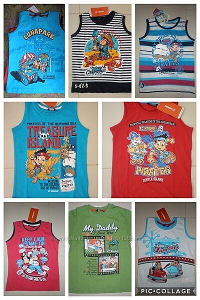 Майки и футболки на мальчиков ТМ WAIKIKI. от 92см до 116 см. Распродажа