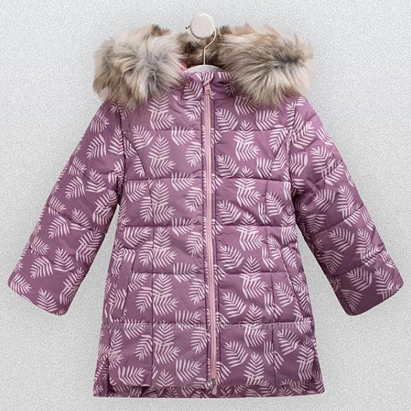 Стильная зимняя утепленная куртка-пальто ТМ Бемби р. 116-122