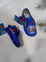 Детские тапочки-мокасины для мальчика от фирмы zetpol, польша рр. 18 19 20