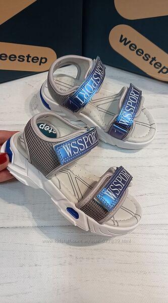 Новинка кожаные спортивные босоножки бренда weestep для мальчиков рр. 26 27