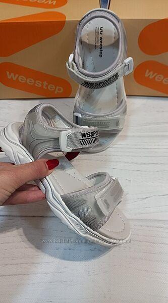 Новинка кожаные спортивные босоножки бренда weestep для девочек рр. 32 33 3