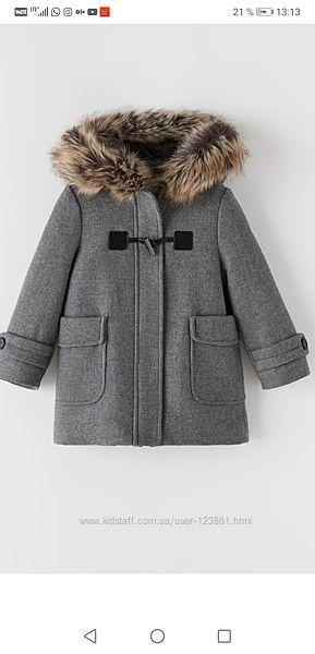 Очень крутое пальто Zara 128 140  152 164