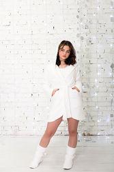 Халат на дівчинку теплий Eirena Nadine 573 білий