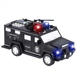 Детский Сейф Копилка Машинка С Кодом И Отпечатком Cach Truck