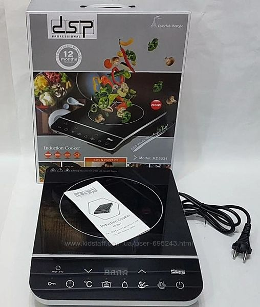 Электроплита Индукционная Настольная DSP KD-5031 2000W Black