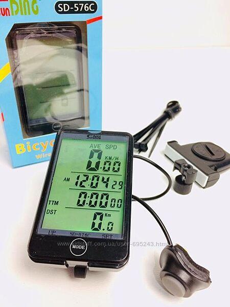 Велокомпьютер Беспроводной SunDing SD-576C С Подсветкой Спидометр
