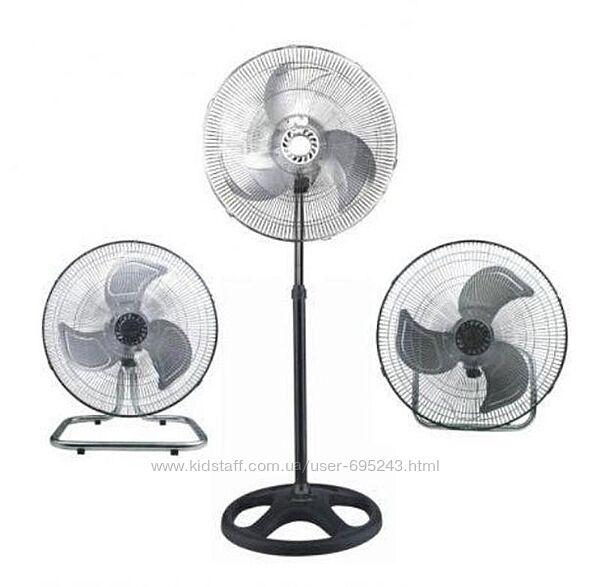 Вентилятор 3 В 1 Напольно-Настольный-Настенный Rainberg FS-4531