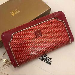 Шикарный женский кожаный кошелёк Moro Jenny