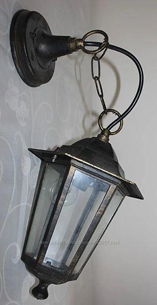 Колоритный фонарь под старину металл/стекло, Испания