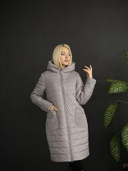 Р.46-62 шикарная удлиненная деми куртка женская курточка весна код211