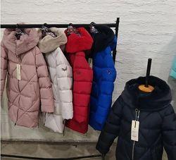 р.110,122,140-158 Супер стильная зимняя куртка пуховик для девочки