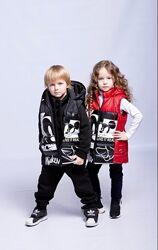 р.110-140 стильная жилетка для мальчиков и девочек код722