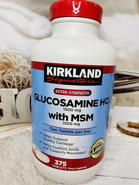 США KIRKLAND glucosamine глюкозамин и МСМ