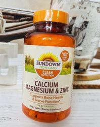 США Кальций, магний, цинк SUNDOWN NATURALS Calcium Magnesium and Zinc