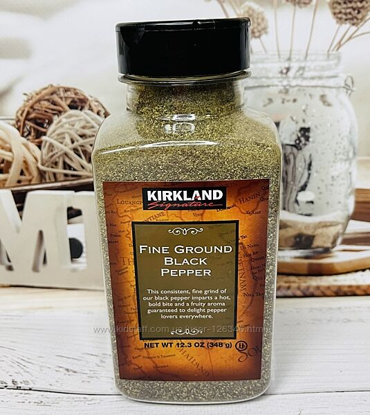 США Черный тонко-молотый перец KIRKLAND Fine Ground Black Pepper