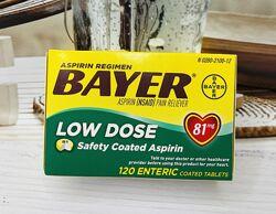 США Витамины для сердца Аспирин Bayer Aspirin Low Dose 81мг