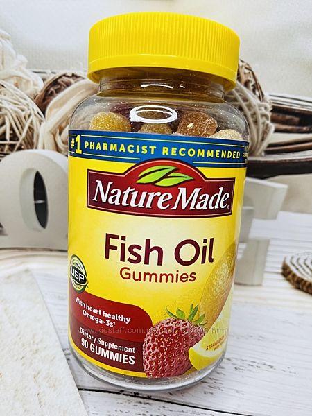 США Рыбий жир в желейках NATURE MADE Fish Oil