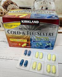 США Капсулы от кашля, простуды Kirkland Multi-Symptom Cold Flu Severe