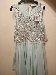 Стильное праздничное платье Matalan, 10 лет, новое