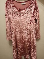 Элегантное велюровое платье Matalan, 9 лет