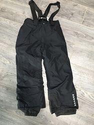 Черные Crivit pro лыжные термо штаны полукомбинезон