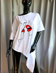 Брендовая сексопильная туника платье ассиметрия, с разрезом , италия