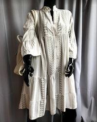 Стильная туника - платье рубашка с орнаментом , италия