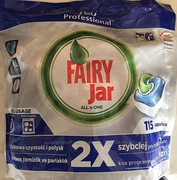 Таблетки Fairy Jar для посудомиючої машини 115 шт