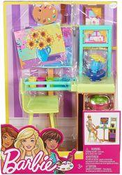 Barbie Игровой набор мебели художественная студия куклы Барби Art Studio