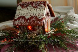 Пряничные домики.  эко-композиции-подложки в подарок