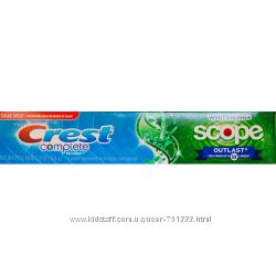 Зубная паста Crest Complete Multi-Benefit Extra White Plus Scope Outlas