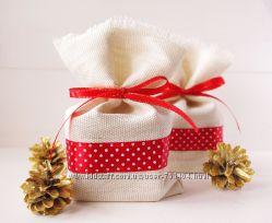 Подарочная упаковка - стильные мешочки 1