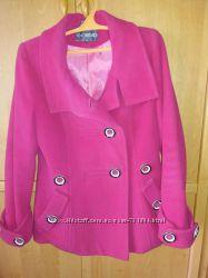 Кашемировое розовое пальто тм Giorgio р. 46