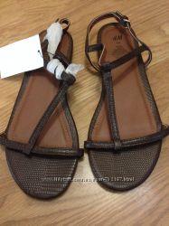 Босоножки коричневые H&M 40 размер