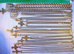 Cеребряные цепочки крестики 925 пробы