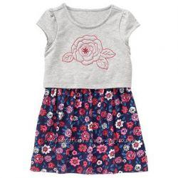 Нежное платье с розочкой Gymboree на 3-4 года и 6-7 лет