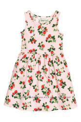 Платье сарафан H&M 3 цвета 2-4 из 100 хлопка