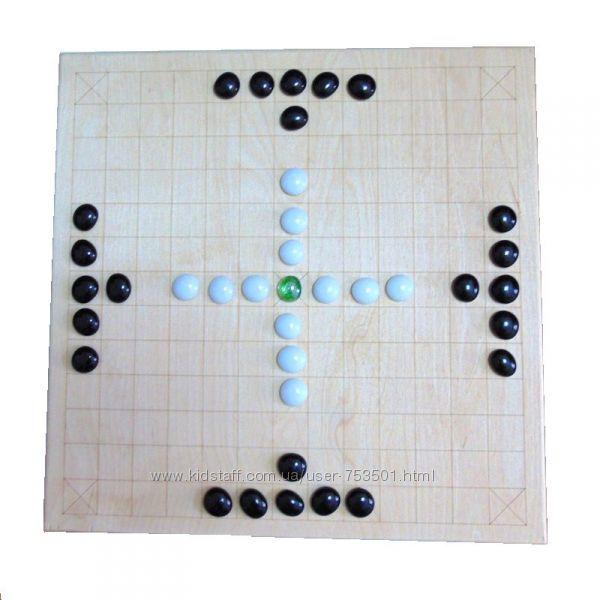 Настольные игры из натурального дерева Тавлеи, Солитер