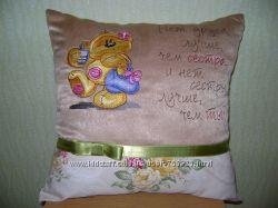 Декоративная подушка для сестры