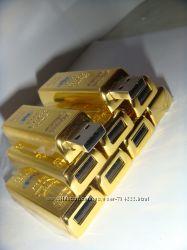 флешка в виде золото слитка металическая