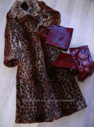 Шуба Леопард, пальто меховое