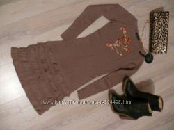Теплое платье-туника