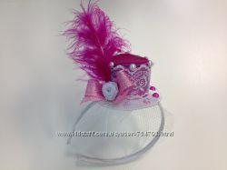 Шляпки-вуалетки на обручах