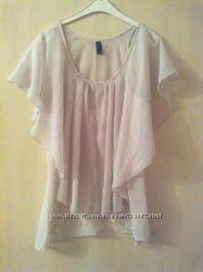 Летняя блузка песочного оттенка. размер s. vero moda