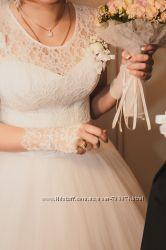Нежное свадебное платье, девочки торгуемось