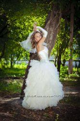 Свадебное платье из органзы Срочно