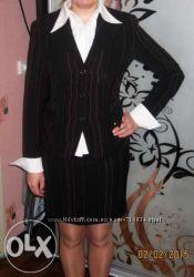 Костюм деловой женский тройка Kasider пиджак, юбка, брюки, галстук, блуза