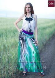 Шифоновое платье длинное