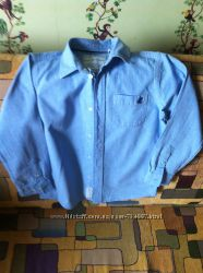 Детская рубашка на рост 128 см, голубая